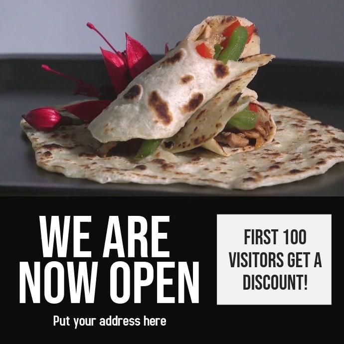 Plantilla para nuevo restaurante Instagram-opslag template