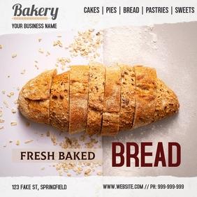 Plantilla para panadería Instagram Post template