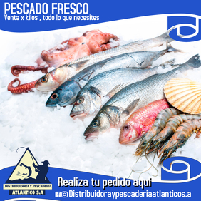 Plantilla para pescaderia