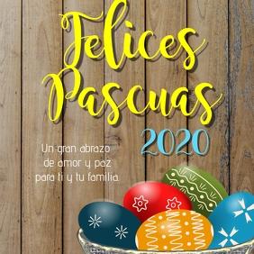 plantilla para post de Felices Pascuas 2020