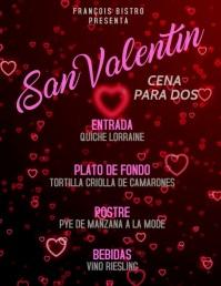 plantilla para post de san valentin Рекламная листовка (US Letter) template