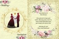 Plantilla para poster de boda Iphosta template