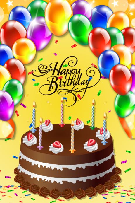 Plantilla para poster de cumpleaños template
