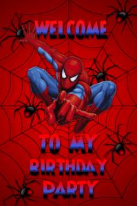Plantilla para poster de cumpleaños Plakat template