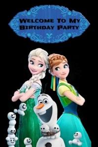 Plantilla para poster de cumpleaños Plakkaat template
