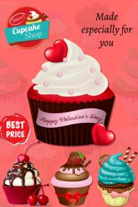 Plantilla para poster de cupcakes template