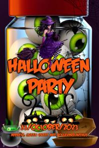 Plantilla para poster de Halloween template
