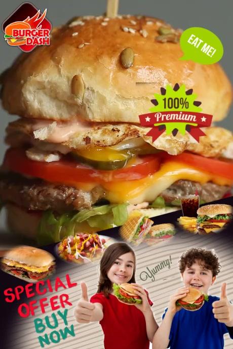 Plantilla para poster de hamburguesas template
