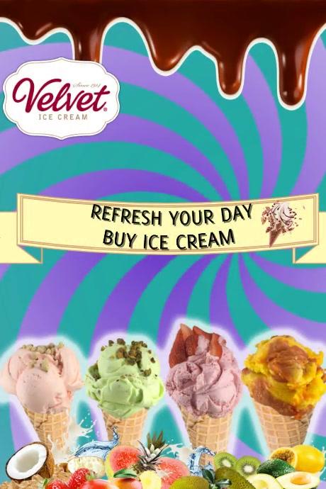 Plantilla para poster de helados Plakat template