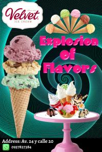 Plantilla para poster de helados template