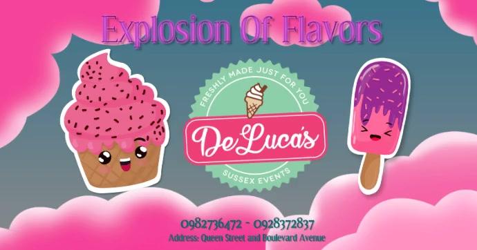 Plantilla para poster de postres de helado Facebook Shared Image template