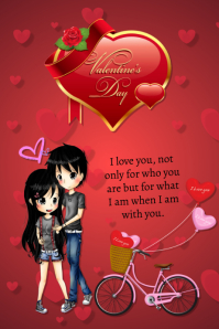 plantilla para poster de san valentin Plakat template