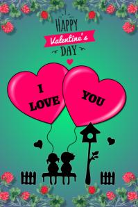 plantilla para poster de san valentin Affiche template