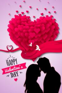 plantilla para poster de san valentin template