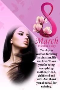 Plantilla para poster del dia de la mujer Plakat template