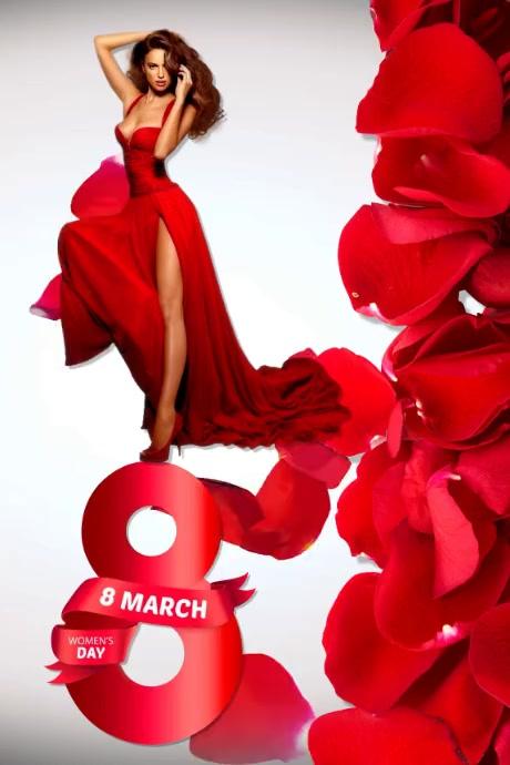 Plantilla para poster del dia de la mujer Cartaz template
