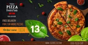 Plantilla para restaurante Imagen Compartida en Facebook template