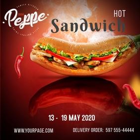 Sandwich Flyer Template Message Instagram