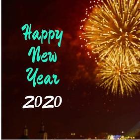 plantilla para tarjeta de año nuevo