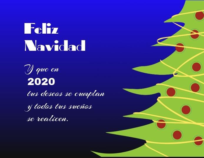 plantilla para tarjeta de navidad y año nuev