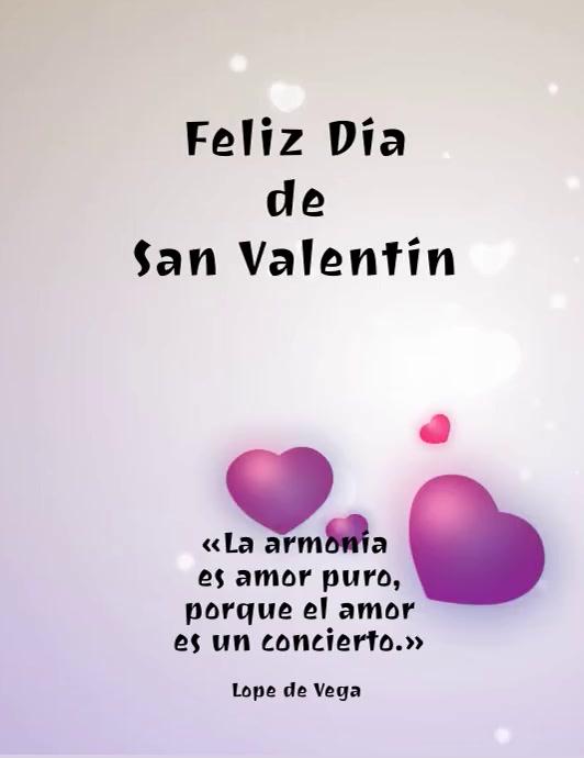 plantilla para tarjeta de san valentin Pamflet (Letter AS) template