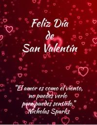 plantilla para tarjeta de san valentin Pamflet (VSA Brief) template