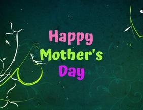 plantilla para tarjeta del día de la madre