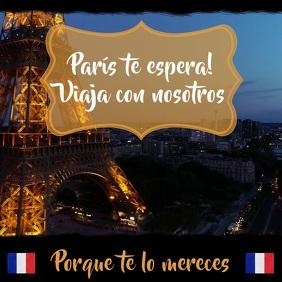 Plantilla para viaje a Paris