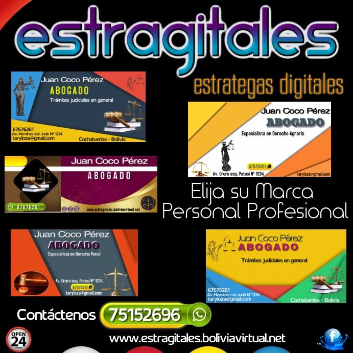 plantilla servicios digitales โพสต์บน Instagram template