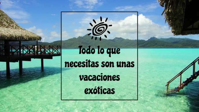 Plantilla Vacaciones exóticas en la playa