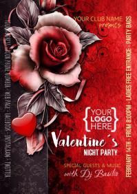 Plantilla Volante San Valentin poster flyer A5 template