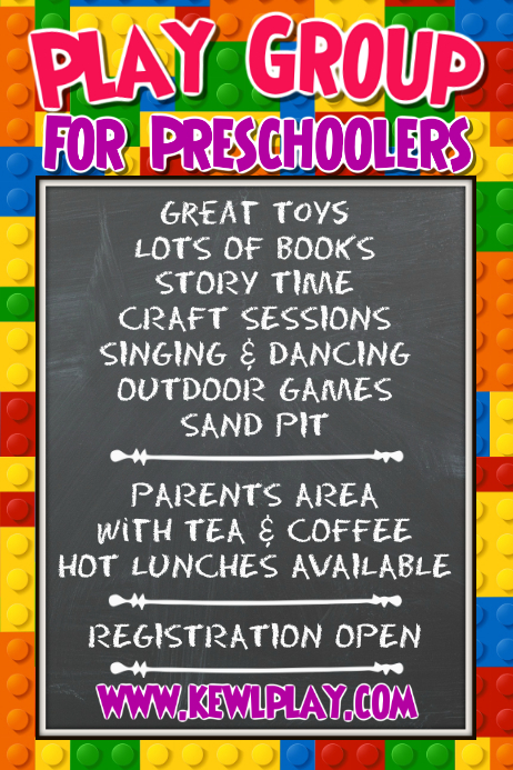 Play Group Poster Template โปสเตอร์