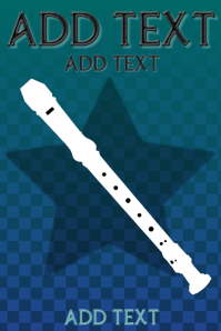 play the recorder - instrument flute blue star