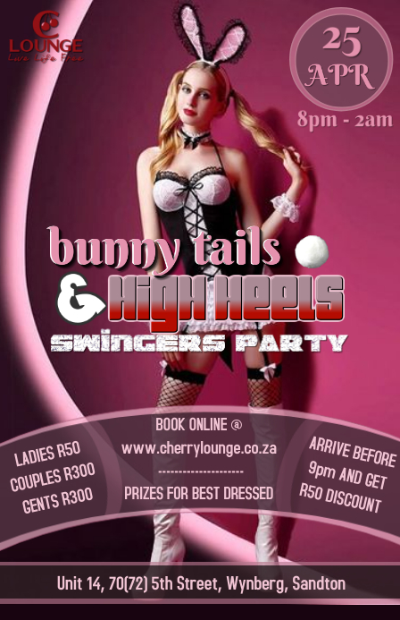 Playboy Bunny Easter Party Tabloid template