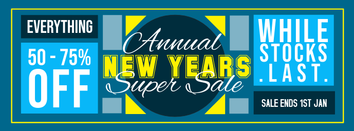 Playful New Year's Super Sale Banner