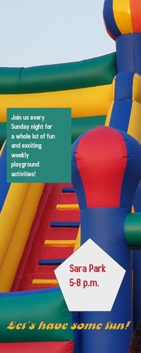 Playground activity Cartel enrollable de 2 × 5 pulg. template