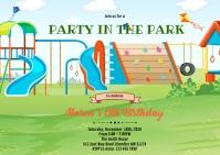 Playground birthday A6 template