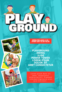 PlayGround Kindergarden Flyer Design Template