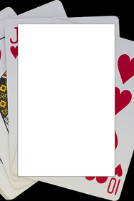 Playing Card Party Prop Frame