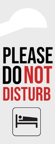 Please Do Not Disturb Door Sign Letter ครึ่งหน้า template