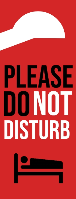 Please Do Not Disturb Door Sign Template Meia página - Letter