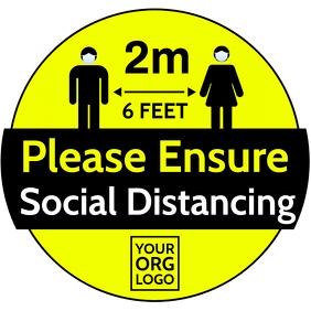 Please Ensure Social Distancing Template Vierkant (1:1)