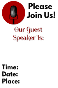 60 customizable design templates for guest speaker postermywall