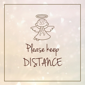 Please keep Distance Corona Covid19 Preventio