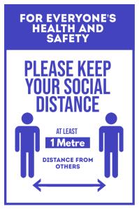 Please Keep Your Social Distance Plakkaat template