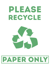 Please Recycle Paper Sign Printable A4 template