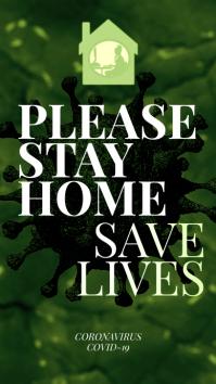 Please Stay Home Corona Virus Instagram Story template