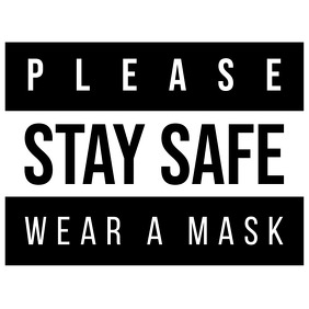 Please Stay Safe Wear a Mask Logo Badge template