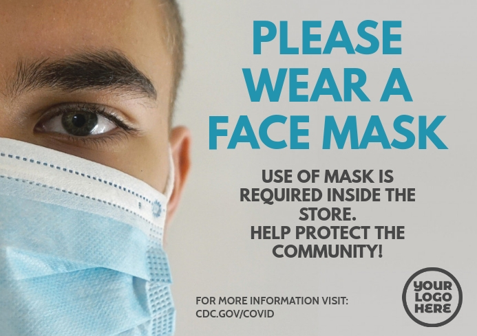 Please use a face mask for coronavirus flyer A4 template