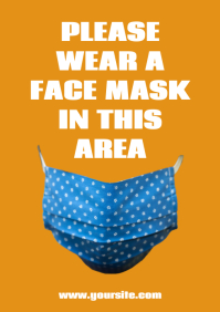 Please use a mask in this area notice flyer